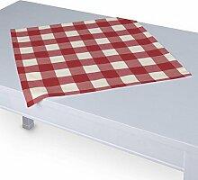 Dekoria Tischdecke mit breitem Saum 60 x 60 cm weiss-rot karier