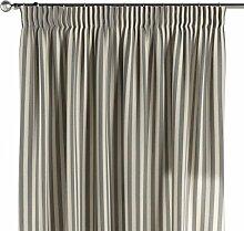 Dekoria Vorhang mit Kräuselband Schal Gardine Dekoschal blickdicht Wohnzimmer Schlafzimmer Kinderzimmer Fensterdekoriation 1 Stck. 130 x 260 cm marinenblau-ecru Vorhang auf Maß massangefertigte Vorhänge Maßanfertigung möglich