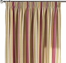 Dekoria Vorhang mit Kräuselband Schal Gardine Dekoschal blickdicht Wohnzimmer Schlafzimmer Kinderzimmer Fensterdekoriation 1 Stck. 130 x 260 cm olive-violett-beige Vorhang auf Maß massangefertigte Vorhänge Maßanfertigung möglich