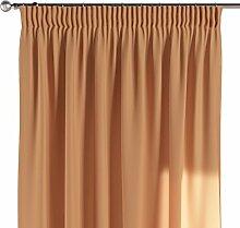 Dekoria Vorhang mit Kräuselband Schal Gardine Dekoschal blickdicht Wohnzimmer Schlafzimmer Kinderzimmer Fensterdekoriation 1 Stck. 130 x 260 cm orange Vorhang auf Maß massangefertigte Vorhänge Maßanfertigung möglich
