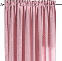 Dekoria Vorhang mit Tunnel und Köpfchen Schal Gardine Dekoschal blickdicht Wohnzimmer Schlafzimmer Kinderzimmer Fensterdekoriation 1 Stck. 130 x 260 cm rosa- weiss Vorhang auf Maß massangefertigte Vorhänge Maßanfertigung möglich