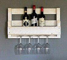 Dekorie Hochwertiges Weinregal aus Holz für die