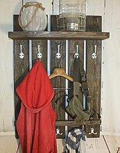 Dekorie Holz Garderobe im Landhaus Stil Vintage