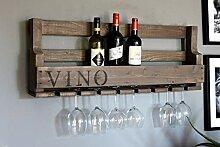 Dekorie Weinregal aus Holz für die Wand - mit