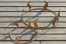 Dekoring Hase Gartendeko aus Eisen rost 2er Se