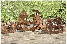 Dekoring Pilze Gartendeko aus Eisen rost 3er Se