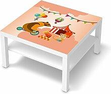Dekorsticker Kinder-Möbel für IKEA Lack Tisch 78x78 cm   Möbelfolie selbstklebend umgestalten   Ideen für Erlebnisraum Wohnen   Kids Kinder Bärenstark