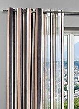 Dekoschal 2 St. Gardine Vorhang Streifen