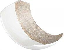 Dekoschale, Kerzenteller CHAMPAGNER L. 23cm creme + weiß Keramik Formano (12,90 EUR / Stück)