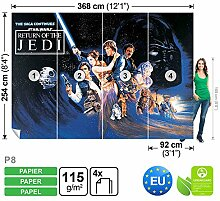Dekoshop Fototapete Tapete Star Wars Jungen AD1589P8 (368cm x 254cm) Photo Wallpaper Mural