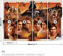 Dekoshop Fototapete Tapete Star Wars Jungen AD1591P8 (368cm x 254cm) Photo Wallpaper Mural