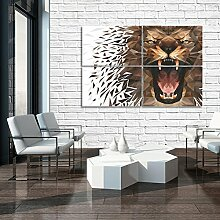 DekoShop Glasbild Echtglas Glasfoto Wandbild Tiger