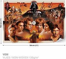 Dekoshop Vlies Fototapete Tapete Vliestapete Star Wars Jungen (104cm x 70,5cm) AD1591VEM Photo Wallpaper Mural