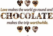 Dekosticker Chocolate Komar