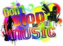 Dekosticker Don´t stop the music Komar