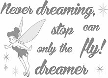 Dekosticker Never stop dreaming Disney Komar