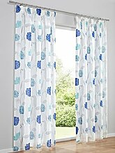 Dekostore, Farbe Weiß/Blau, 1 Stück, Heine Home,
