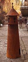 Dekostüberl Edelrost Leuchtturm 3D Optik 60cm