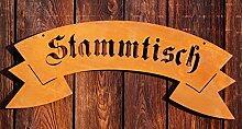 Dekostüberl Edelrost Wandbild Stammtisch Gasthaus