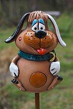 Dekostüberl Keramik Hund Bello Gartendekoration
