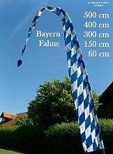 DEKOVALENZ - Gartenfahne BAVARIA blau-weiss, Oktoberfest Bayernfahne bayrische Balifahne Gartendeko, Fahnenlänge:3 Meter
