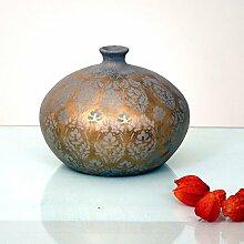 Dekovase Barbara Klein / Keramik / Gold-Silber