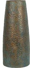 Dekovase Gold mit Grün 18 x 42 cm Keramik