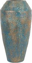 Dekovase Gold mit Grün 28 x 51 cm Keramik