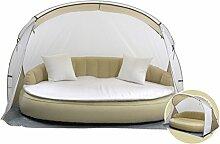Dekovita Air-Lounge 220x130cm Sonneninsel Sonnenliege aufblasbares Sofa Gartenliege inkl. Auflagen und Strandmuschel 2-3 Personen Liege bis 200 KG