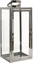 Dekovita Gartenlaterne 49cm Edelstahl-Laterne mit