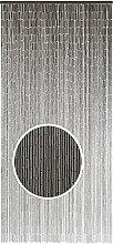 Dekovorhang Taupe, 90x200 cm, Dekovorhang Bambus, Dekorativer Vorhang aus handbemalten feinen Bambusröhrchen, Türvorhang mit 90 Strängen und Aufhängeleiste