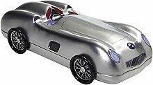 DekoWoerner Auto Blechdose Silber 271x120x80mm