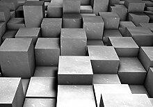 DELESTER 2504 Vexxxl DESIGN, Modern Art/Vliestapete Tapete Tapeten Fototapeten Wandbild Bild Foto Tapeten, Vliestapete, bestehend aus 4-teilig, grau/416 x 3D-Effekt 254 cm)