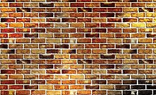 DELESTER DESIGN 1534P8Tapete für die Wand, 4Teile, Gestein/Steine/Backstein, beige, 368x 254cm