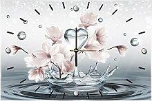 Delester Design cg10163g3Magnolia Wanduhr aus Glas (déco-vitre) Glas mehrfarbig 60x 40x 4cm