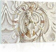 Delester Design cg10211g3Qualle (Mythologie) Wanduhr aus Glas (déco-vitre) Glas mehrfarbig 60x 40x 4cm