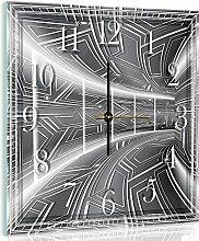 Delester Design cgb10080g7Flur graphit Wanduhr aus Glas (déco-vitre) Glas bunt 40x 40x 4cm