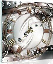 Delester Design cgb10205g7Diamant Wanduhr aus Glas (déco-vitre) Glas bunt 40x 40x 4cm