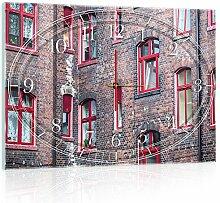 Delester Design cgb10504g3Gebäude polnischen Wanduhr aus Glas (déco-vitre) Glas mehrfarbig 60x 40x 4cm