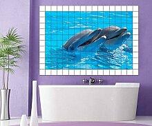 Delfine Fliesenaufkleber 15 10 25 20 cm