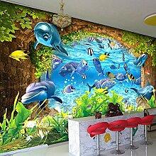 Delfinfische,Tapete Wandtattoo,3D-Tv