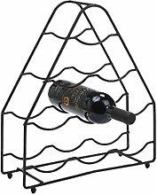 Delfinware Weinregal für 9 Flaschen, Schwarz