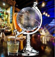 DELIBEST Globus Acryl Whisky Dekanter Set, Globus