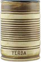 Delicatino Mate Becher Tronco Keramik, Braun, 7.3 x 7.3 x 11.8 cm
