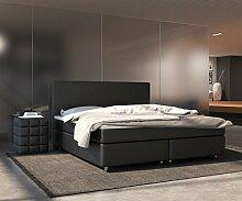DELIFE Bett Cloud Schwarz 140x200 cm Matratze und