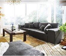 DELIFE Big-Sofa Marbeya, Anthrazit 285x115 cm