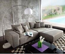 DELIFE Big-Sofa XXL, Hellgrau 290x110 cm mit