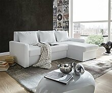 DELIFE Couch Avondi Weiss 225x145 cm