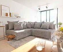 DELIFE Couch Clovis Modular - Ecksofa, Sofa, Wohnlandschaft & Modulsofa (Hellgrau, Ecksofa Links)