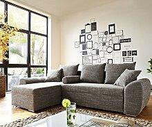 DELIFE Couch Rudy Hellgrau 260x160 Schlaffunktion
